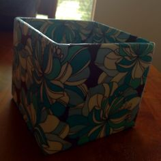 My latest decoupage project: another flowerpot.