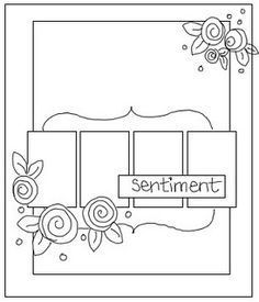 Some great sketches for non-image cards -  maybe modified to work with Fun Frames Stampin' Up!