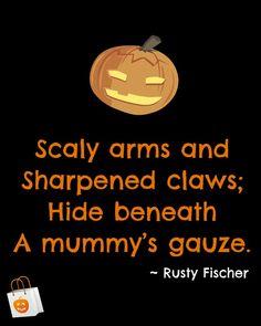 A mummy's gauze... A Halloween poem