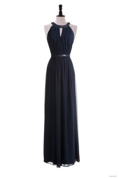 junior bridesmaid dresses Sequin Collar Chiffon Gown $132.98