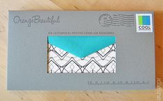OrangeBeautiful Letterpress Cards packaging