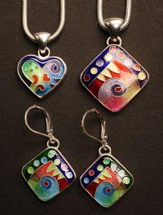 Unique Boutique: Michael Romanik, cloisonne enamel jewelry designer
