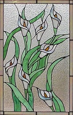 calla lily stained glass pattern - Google Search