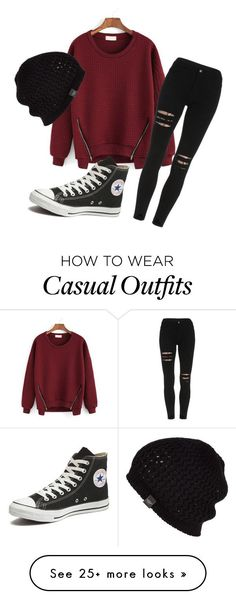 """""""Casual attire"""" by chelseaduster on Polyvore featuring Converse, UGG Australia, women's clothing, women, female, woman, misses and juniors"""