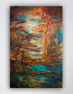 Blue and Brown Abstract Art Print, Abstract Art, Art Print, Copper, Gold and Bronze Wall Art, Modern Art, Contemporary Art, Gift Ideas