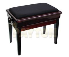 Piano Bench with compartment. Sturdy design, easy to assemble, removeable legs and dual control height adjustment. Piano Bench, Vanity Bench, Wooden Frames, Campaign, Drop, Furniture, Medium, Music, Design