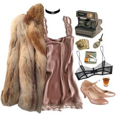 pretty baby by dahmergirl on Polyvore featuring American Retro, Maison Close, Toast, Polaroid, vintage and lingerie