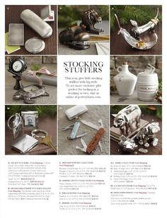 pottery barn catalog design - grid