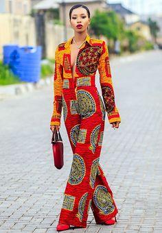 30 Adorable african fashion pieces 30 Adorables pièces de mode africaine - Jumpsuits and Romper Ghana Fashion, Africa Fashion, Ethnic Fashion, African Inspired Fashion, African Print Fashion, African Fashion Dresses, African Attire, African Wear, African Dress