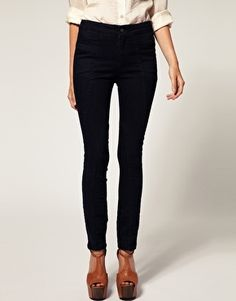 ASOS Waisted Panelled Skinny Jeans - StyleSays