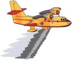 Dakota Collectibles Embroidery Design: Fire Plane 7.43 inches H x 8.93 inches W
