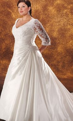 plus size wedding dress #slimmingbodyshapers Bra-friendly plus size wedding gown Visit our blog for inspirational stories & articles about plus size women, plus size issues and tips for the plus size lifestyle slimmingbodyshapers.com