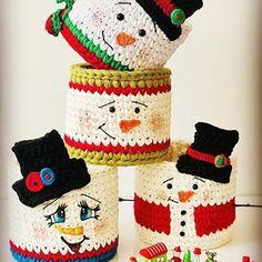 Cotton Crochet Patterns, Crochet Basket Pattern, Christmas Crochet Patterns, Holiday Crochet, Crochet Box, Crochet Crafts, Crochet Dolls, Yarn Projects, Crochet Projects