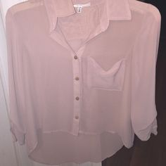 Flowy Blouse by be cool Flowy, see through , cute , can match with some white pants Tops Blouses