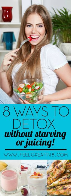 Did you know you can detox without starving, juicing, or gagging down a spicy drink? A safe and healthy detox is a great way to kick sugar cravings and jump start healthy weight loss!