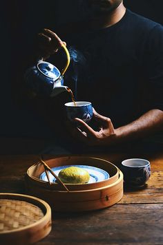 matcha and red bean Chinese steamed buns | A Brown Table