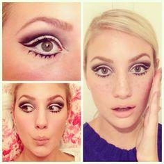 More sixties mod twiggy makeup