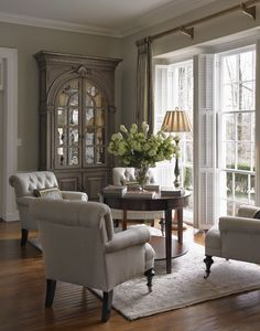 South Shore Decorating shows a beautiful conversation area. Perfect for chats with the gals.