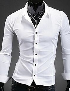 U&F Men's Work Shirt Collar Long Sleeve T-Shirts (Cotton/Polyester). Grab unbeatable discounts up to 90% Off at Light in the box using Coupon Codes.