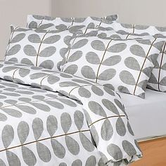 Orla Kiely Scribble Stem Duvet Cover, White /