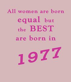 Best Women are Born in 1977 - 40th Birthday T Shirt