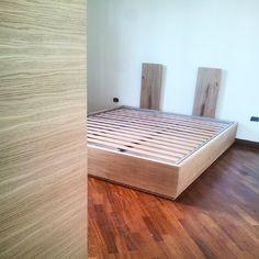 Bed and Wardrobe. Designed and built by Schiuma Post Design. www.schiumapostdesign.com