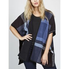 167169 - Denim & Co. Printed Reversible Open Front Poncho QVC Price: £31.50 + P&P: £3.95  This elegant, reversible poncho from Denim & Co. features a bold all-over print, with a floaty, oversize design. Wear over a simple blouse or T-shirt to add texture and colour to any outfit.
