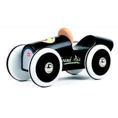 Baghera small black wooden race car