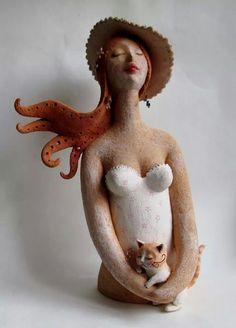 Donna con cappello , Caterina Zacchetti