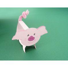 Ein kleines Schwein basteln | Ferkel basteln