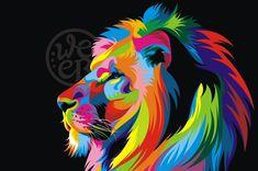 Original de los animales lion King imágenes pintura lienzo Art en la lona…
