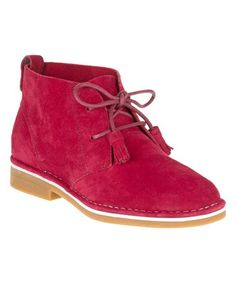 Look at this Dark Red Cyra Catelyn Suede Boot on #zulily today!
