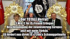 #Islamversteher Der totale Verrat! 3 Mrd. Euro für IS-Freund Erdogan. Beschleunigung der Islamisierung Europas, jetzt mit mehr Türken. EU fördert nun direkt IS & Erdogans Schmuggelmafia! #Staatsfeind #Volksverräter #Deutschlandhasser