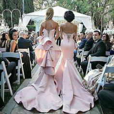 Super glam bridesmaids. @lillyghalichi's #BellaNaijaBridesmaids  Dresses @waltercollection  #ghalichiglam #ebfablook #Emmanuelsblog #fashion #styleblogger #fashionblogger