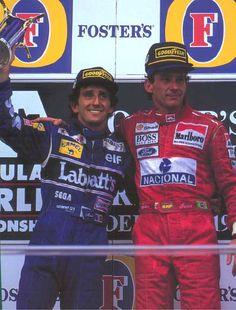 Ayrton Senna and Alain Prost, Adelaide Australia, 1993, Senna's last win and podium