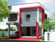 Incredible Modern House Elevation Gharexpert Modern House Elevation Designs - Inspiring Home Design Ideas Modern House Colors, Modern Home Design, Simple House Design, House Front Design, Indian House Exterior Design, Kerala House Design, Modern Exterior, 2 Storey House Design, Duplex House Design