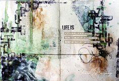 scrapmagique: Art journal Ľútosť