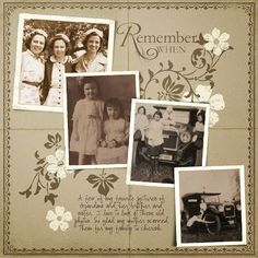 scrapbook for ancestry/family tree 2019 REMEMBER WHEN PAGE TREE The post Digital scrapbook for ancestry/family tree 2019 appeared first on Scrapbook Diy. Heritage Scrapbook Pages, Vintage Scrapbook, Scrapbook Page Layouts, Diy Scrapbook, Family Tree Book, Family History Book, Book Tree, Family Trees, Family Album