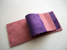 Needle Book Purple Felt Needle Keeper with by HandcraftedorVintage