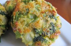 Cheesy Roasted Broccoli Patties - Foodista.com Delicious!  Made them for dinner this evening.