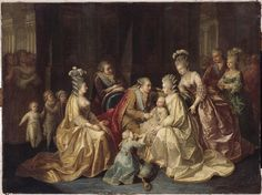 The royal family surrounding the dauphin, c. 1782-83, Oil on canvas, 96 x 128 cm (Versailles)
