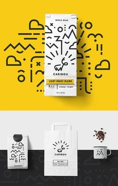 27 New Creative Branding, Visual Identity and Logo Design Examples Branding: Caribou Coffee - Stationary Items - Trend Identity Design 2019 Corporate Design, Corporate Branding, Brand Identity Design, Business Branding, Identity Branding, Brand Design, Design Agency, Stationary Items, Stationary Design