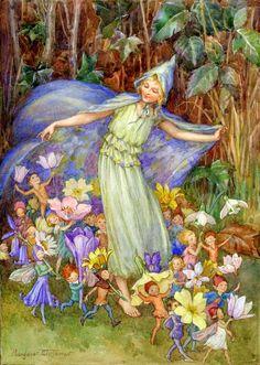 "Vintage Illustrations, Margaret W. Tarrant ""The Fairy Troupe"" Vintage Fairies, Vintage Art, Vintage Clip, Fairytale Art, Beautiful Fairies, Unique Wall Art, All Nature, Flower Fairies, Fairy Art"
