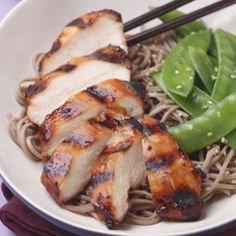 Soy sauce, mirin, brown sugar, garlic and ginger combine in this teriyaki-inspired marinade for grilled chicken.