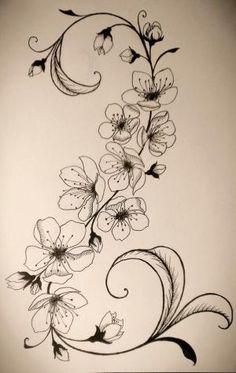 Cherry Blossom Tattoo by pamela