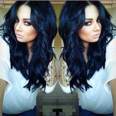 1000+ ideas about Midnight Blue Hair on Pinterest | Navy Hair ...