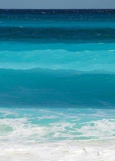 Ocean, different color blues