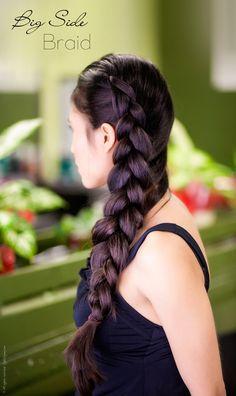 Long Hair Big Side Braid Tutorial - Stylishlyme.com