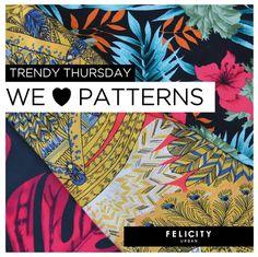 We love #PATTERNS! #trendy #muyfelicity By Felicity Urban