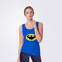 Bat Gym District Womens Tank     * Avaiable Color : Black, Royal Blue, and Neon Pink * Size : S, M, L, XL, 2XL, 3XL, 4XL #summeroutfit #womentank #tanktop #workout #tanktopworkout #batman #supeman #superhero #superherotank